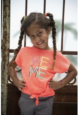 Kidz-Art T-shirt fancy sleeve + knotted hem WE ME