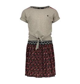 Like Flo Flo girls 2pc flower plisse dress with lurex sweat top maat 140