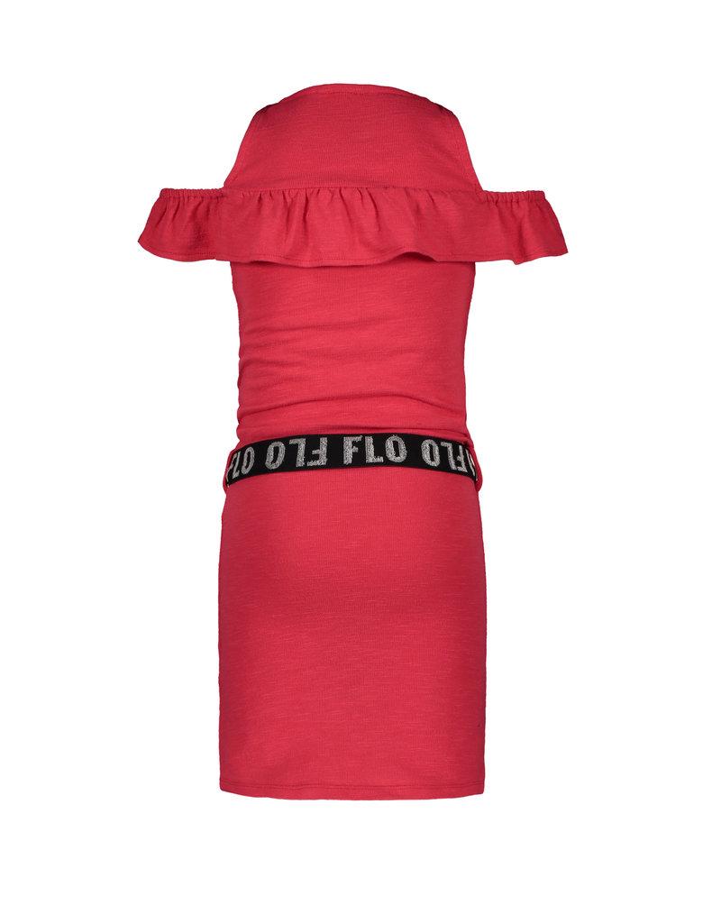 Like Flo Flo girls slub jersey ruffle dress