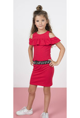 Like Flo Flo girls slub jersey ruffle dress