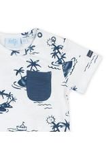Feetje T-shirt AOP - Smile & Wave maat 80