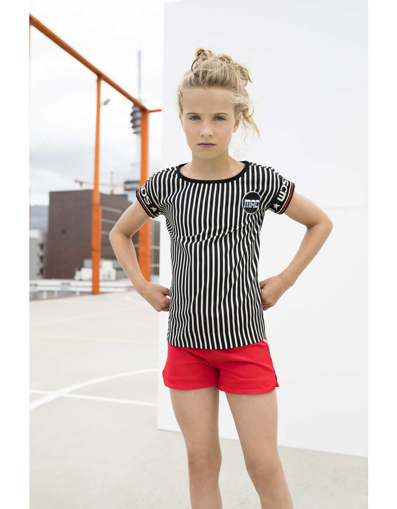 Street Called Madison Luna shiny stripe top SWEET