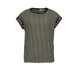 Street Called Madison Luna shiny stripe top SWEET