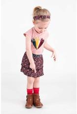 Like Flo Flo baby girls AO shiny jersey plisse skirt 2 layer