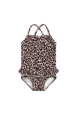 Your Wishes Leopard Pink | Swimsuit maat 122/128