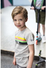 Like Flo Flo boys grey melee tee with rainbow maat 110
