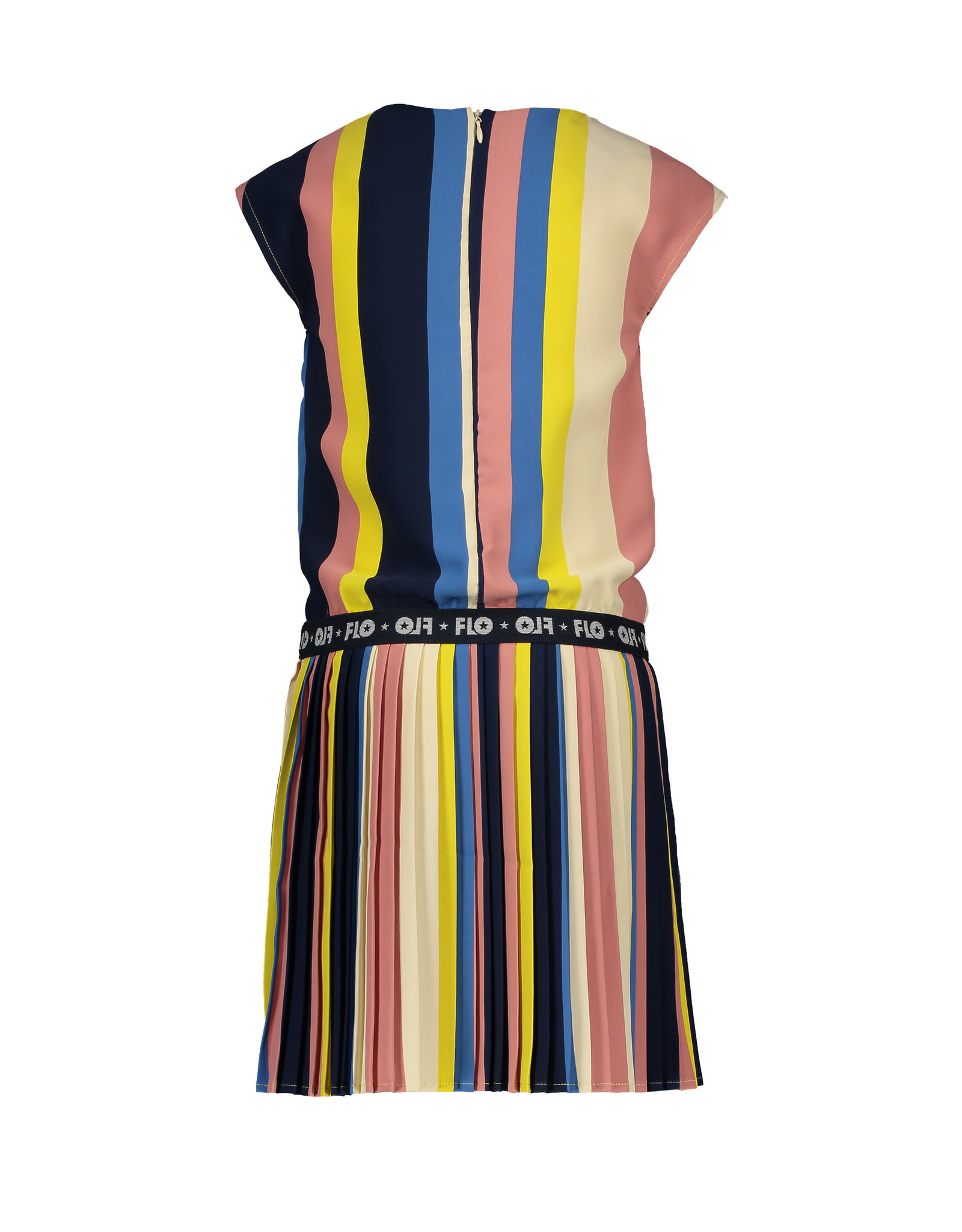 Like Flo Flo girls multi stripe dress with plisse skirt