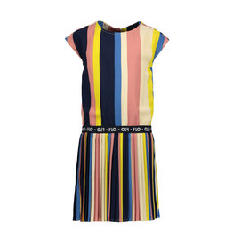 Like Flo Flo girls multi stripe dress with plisse skirt
