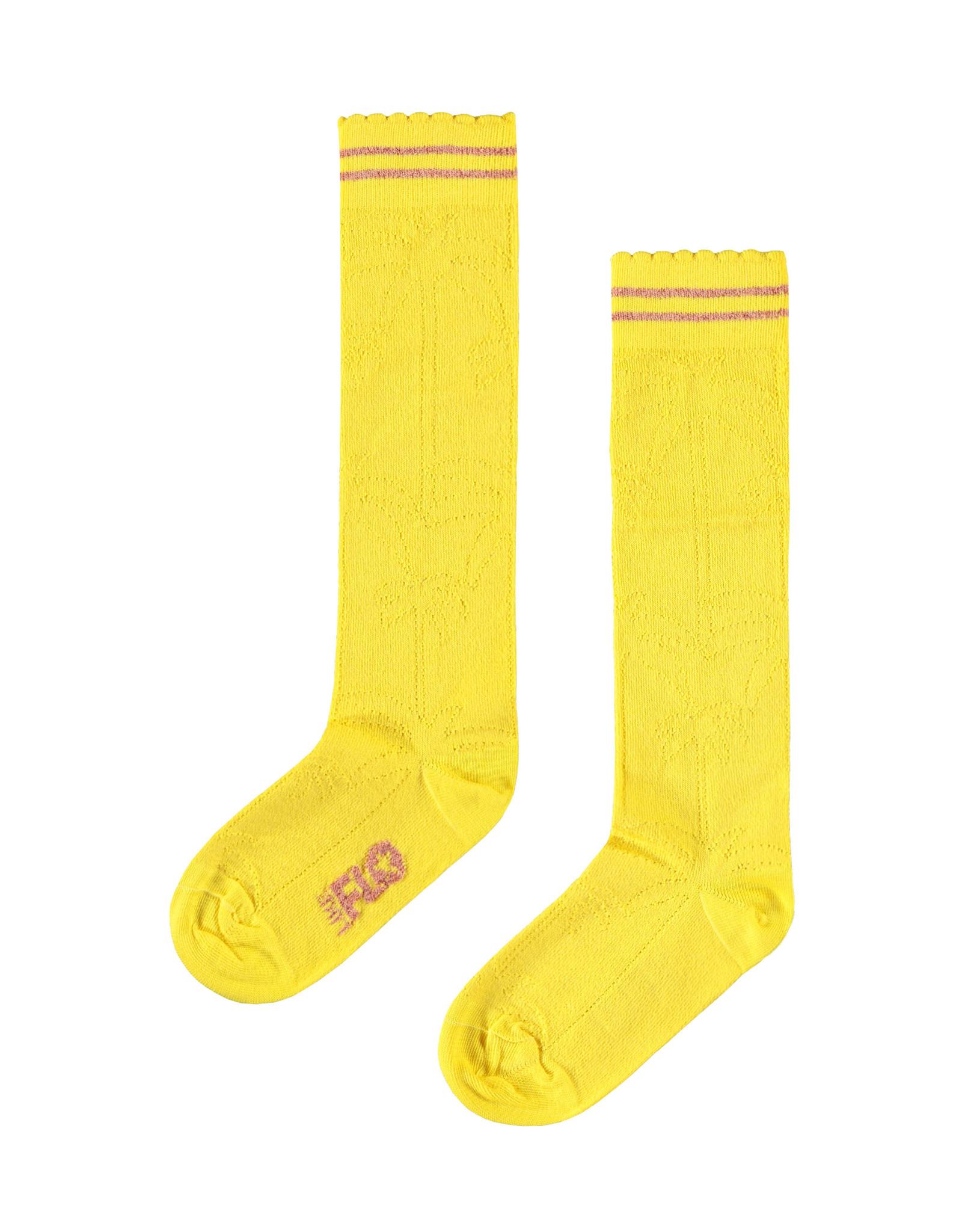 Like Flo Flo girls ajour sock yellow maat 23/26