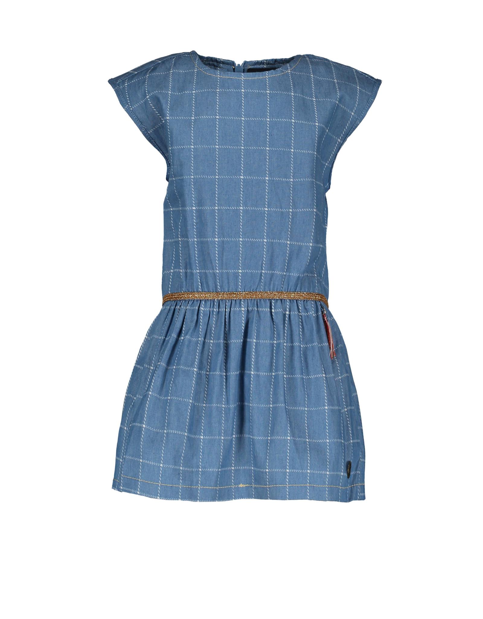 Like Flo Flo baby girls check denim woven dress