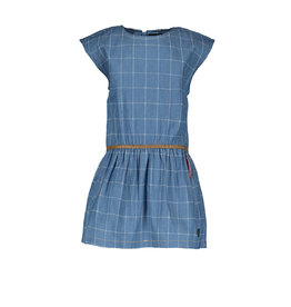 Like Flo Flo baby girls check denim woven dress