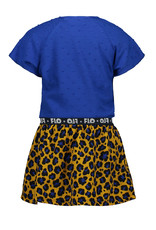Like Flo Flo baby girls 2pc viscose dot dress with AO panter skirt and knotted stripe tee
