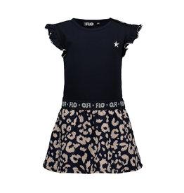 Like Flo Flo baby girls ruffle jersey dress with ikat skirt