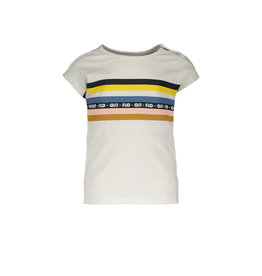 Like Flo Flo baby girls slub jersey top rainbow