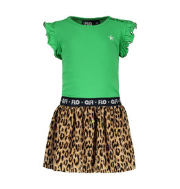 Like Flo Flo baby girls ruffle jersey dress with panter plisse maat 92 skirt