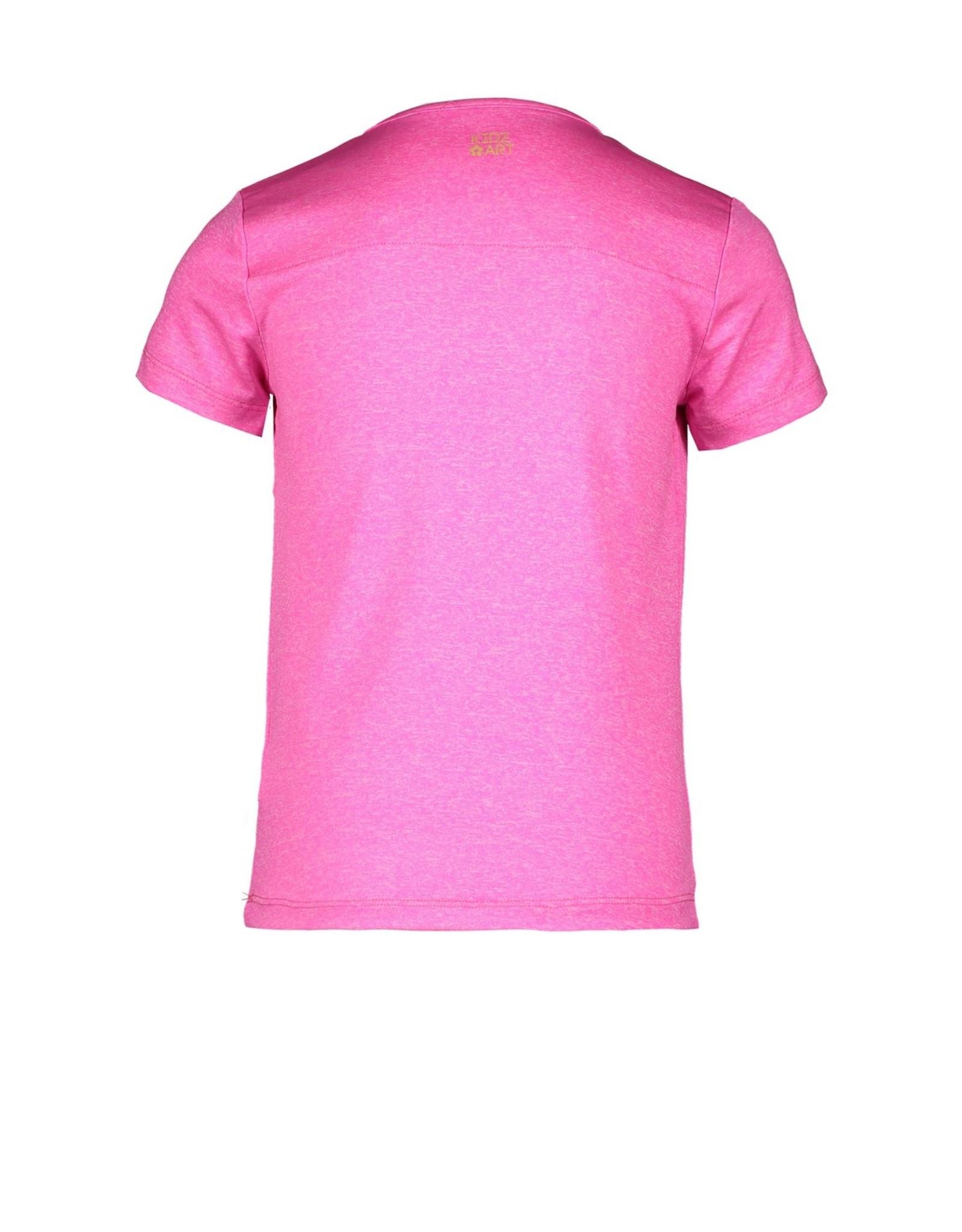 Kidz-Art T-shirt grindle melange s/s + tassels SUMMER