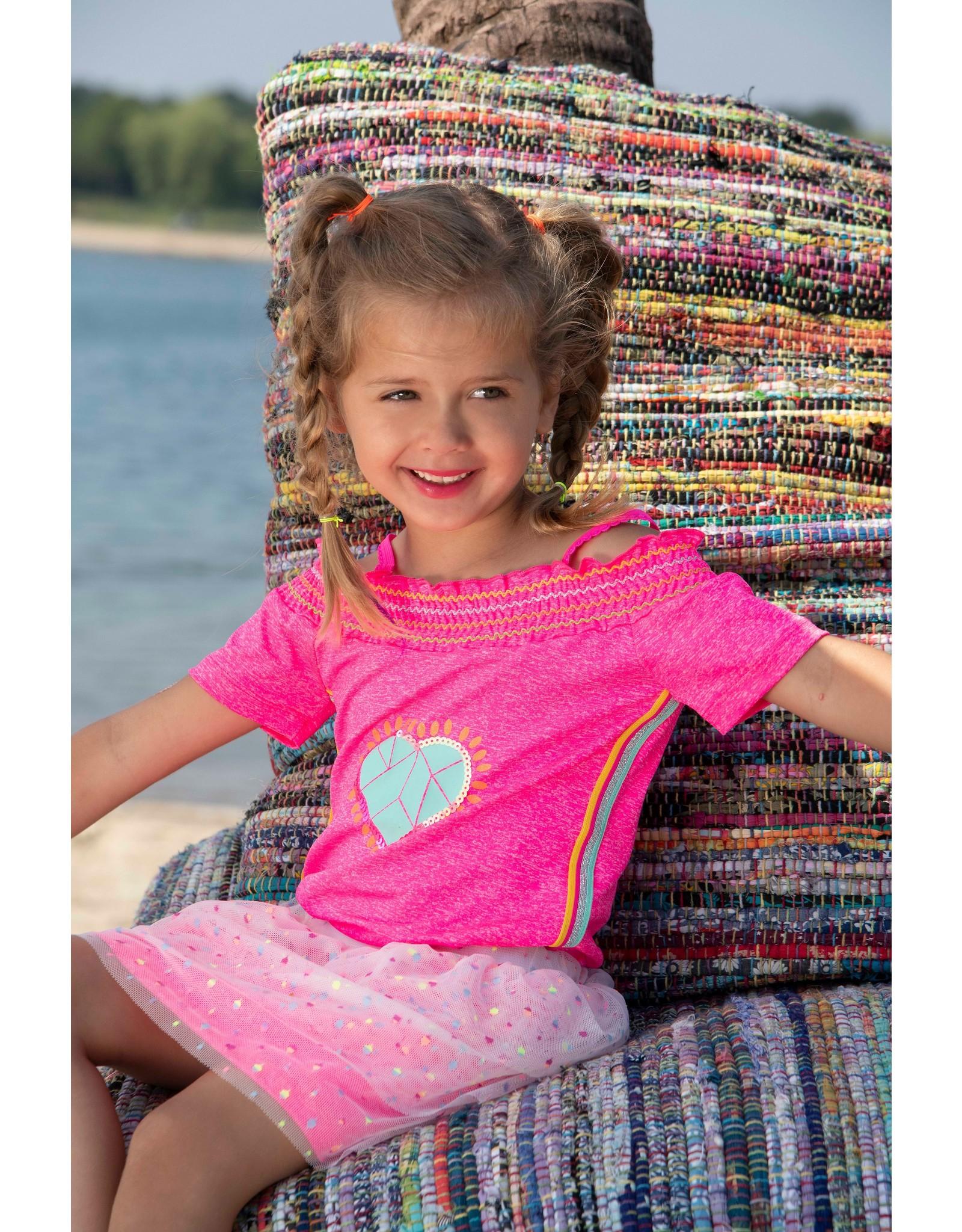 Kidz-Art Skirt fancy tule with jersey grindle melange lining