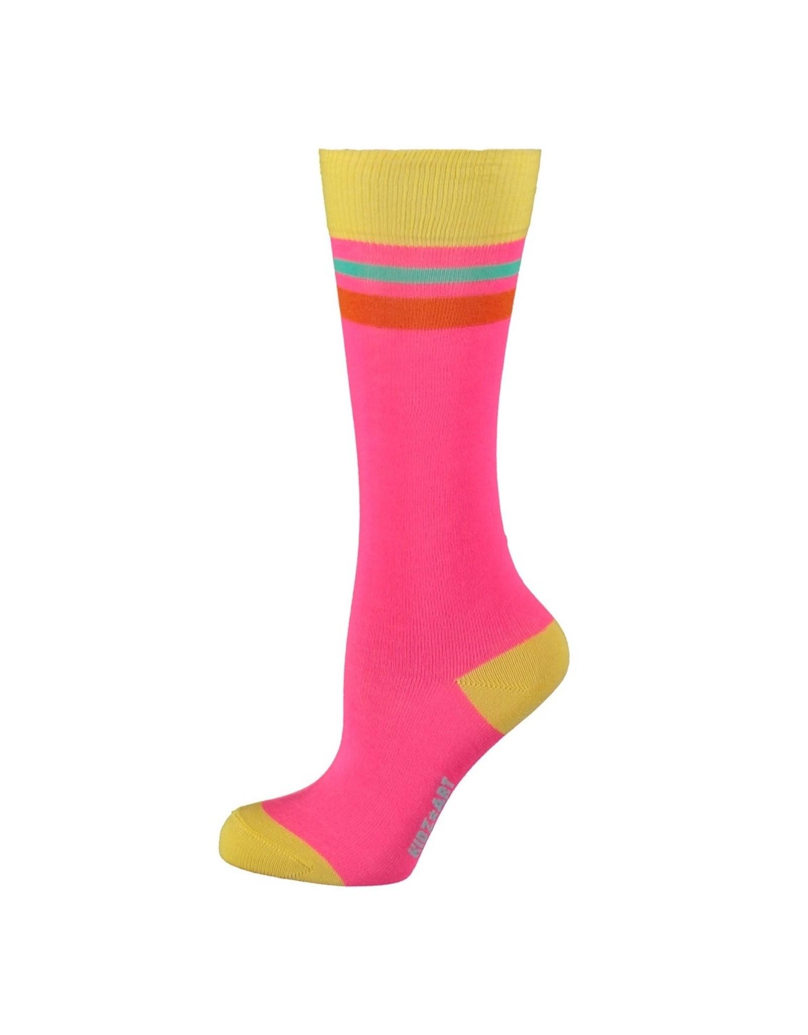 Kidz-Art Knee high socks plain with stripes