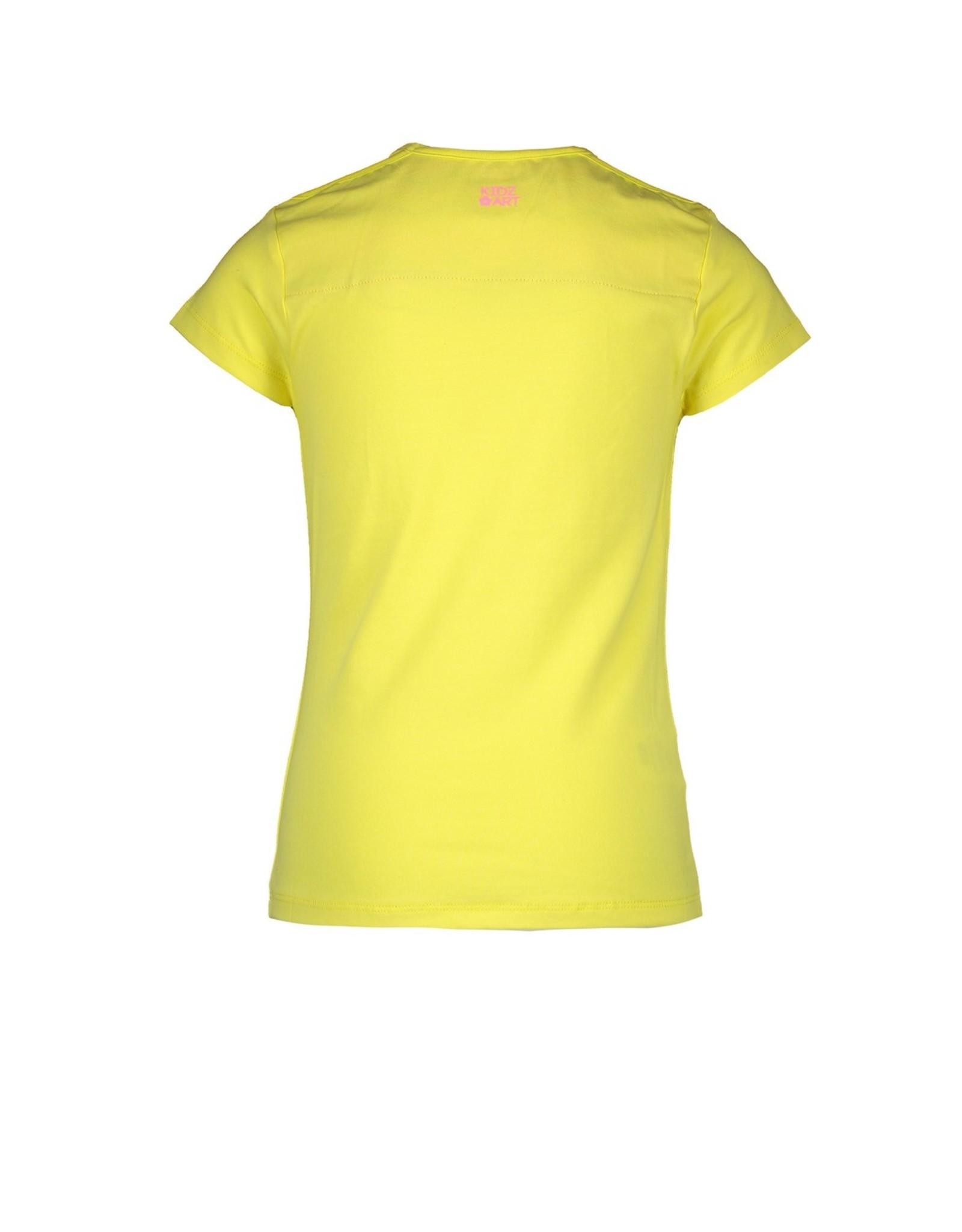 Kidz-Art T-shirt s/s plain panel print CONFETTI maat 122/128