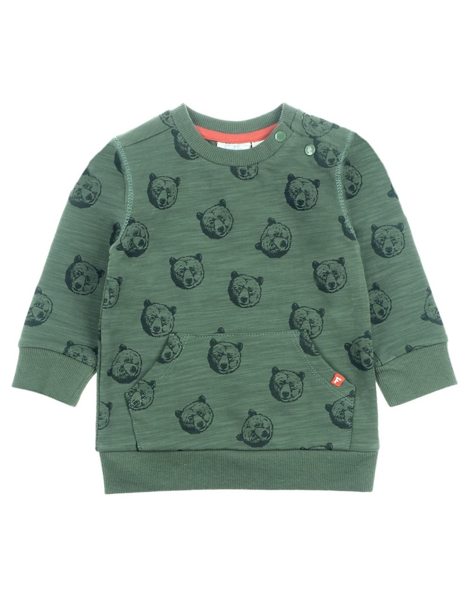 Feetje Sweater AOP - Bear Hugs