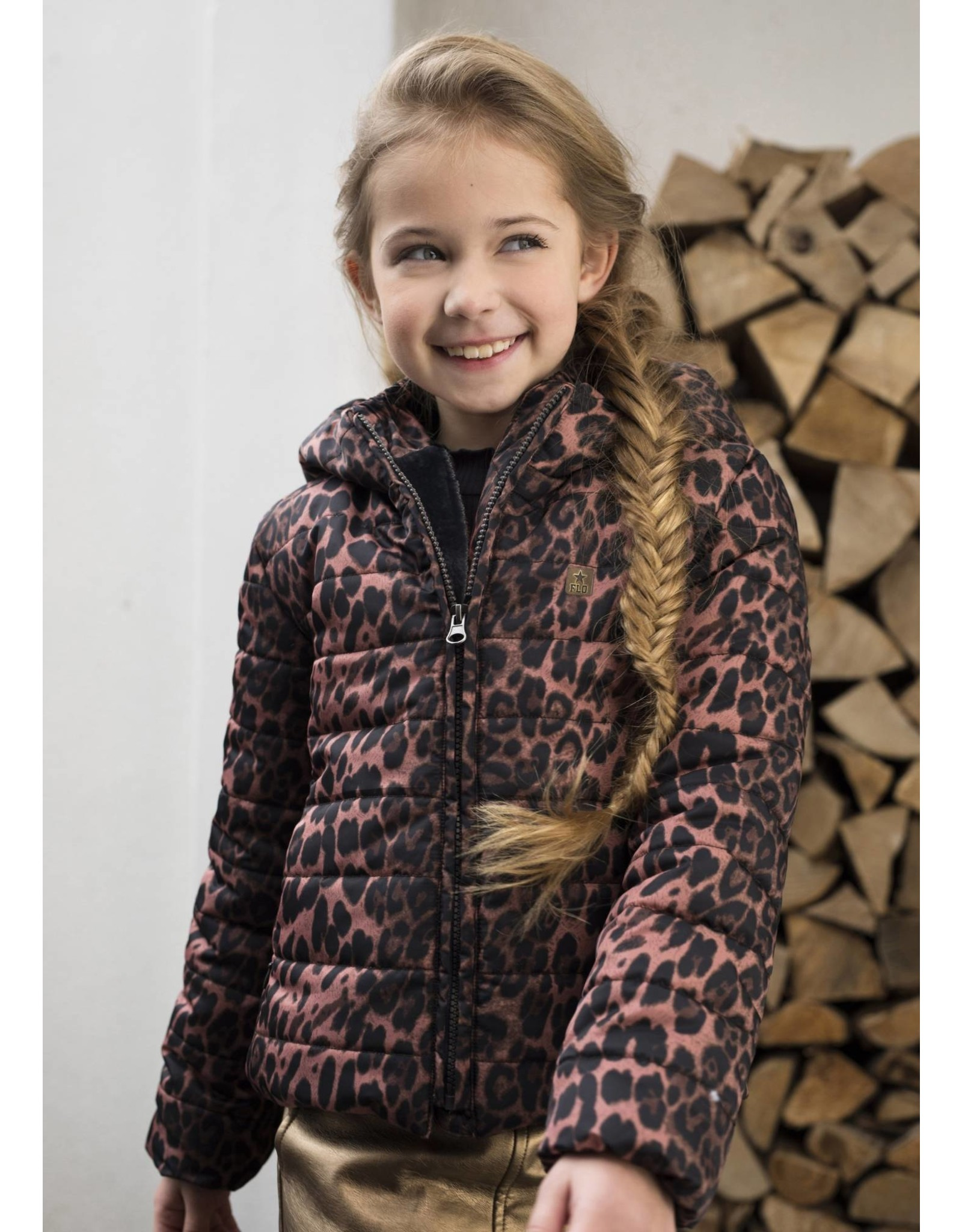 Like Flo Flo girls short hooded jacket