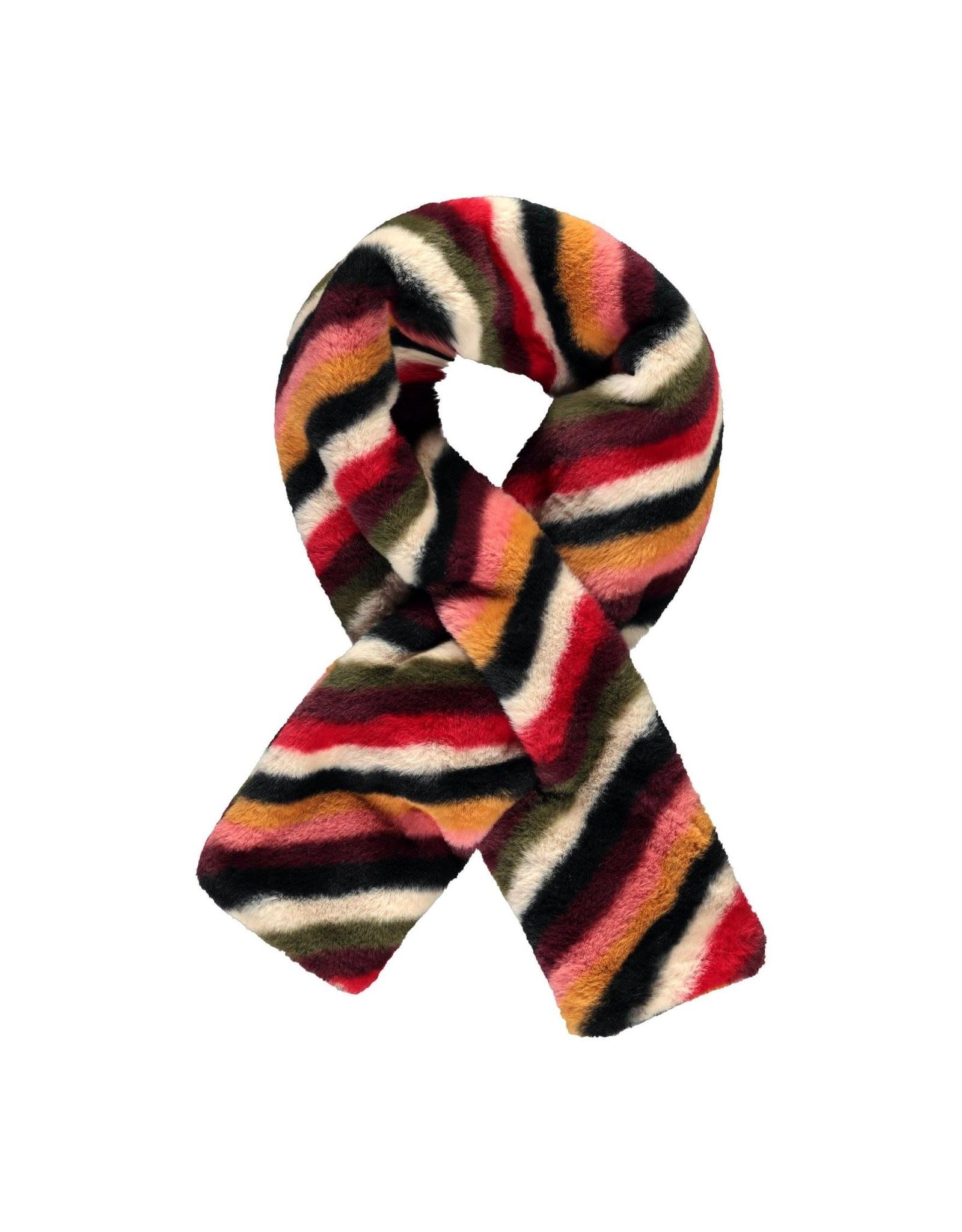 Like Flo Flo baby girls fur scarf stripe