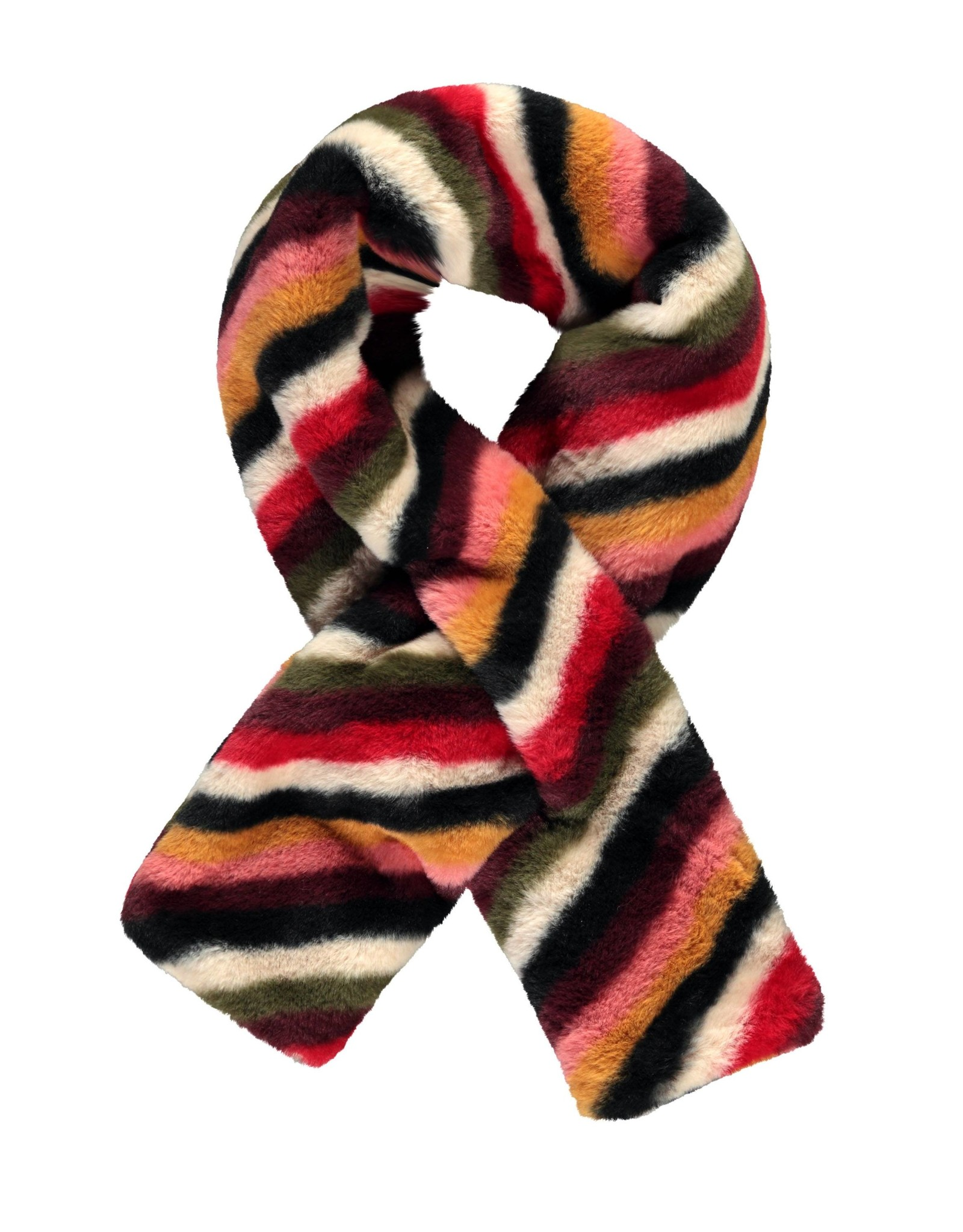 Like Flo Flo girls fur scarf stripe