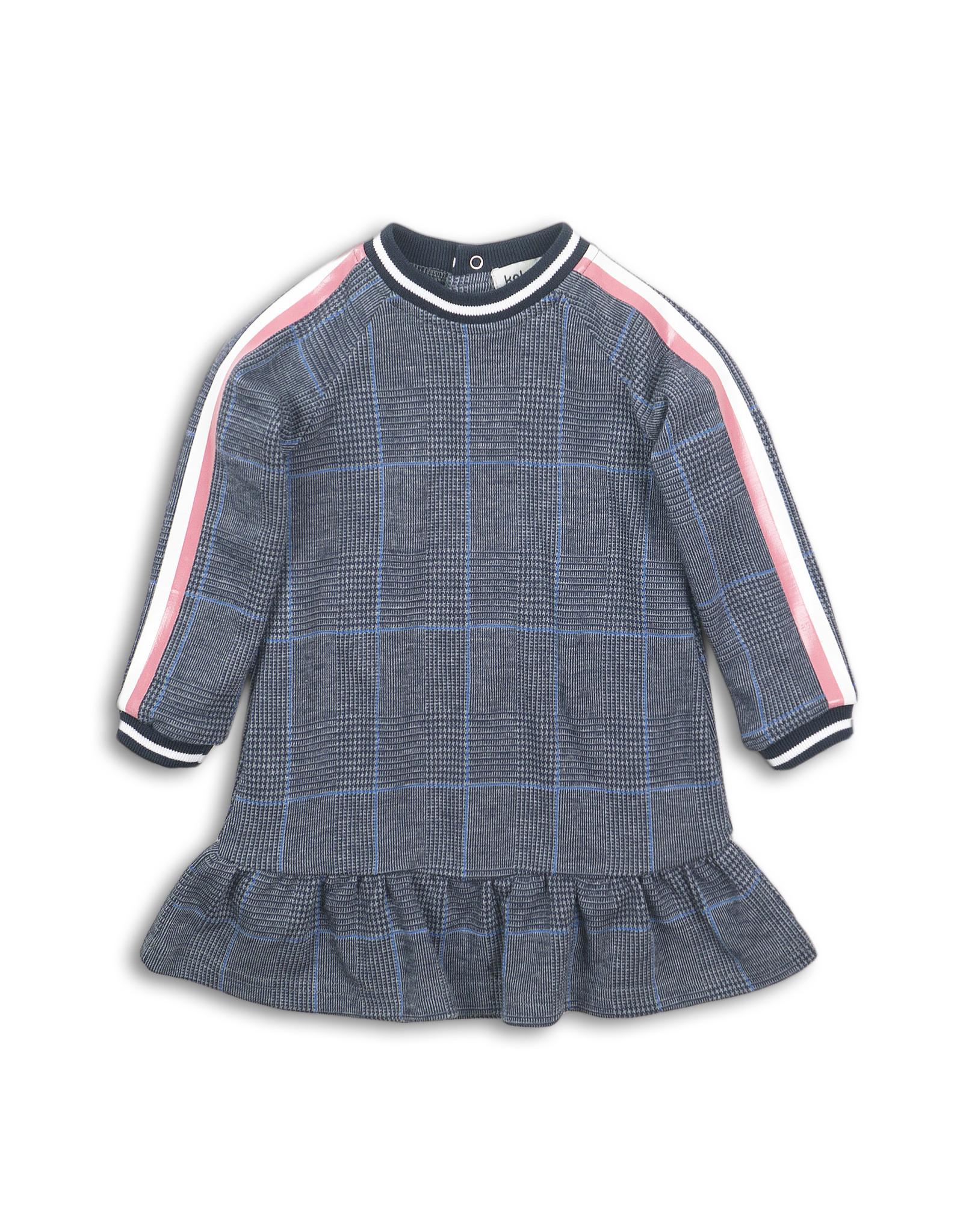Koko Noko Dress blue check
