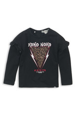 Koko Noko Longsleeve black with print