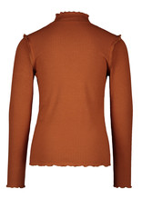 Like Flo Flo girls rib ls turtle neck cognac