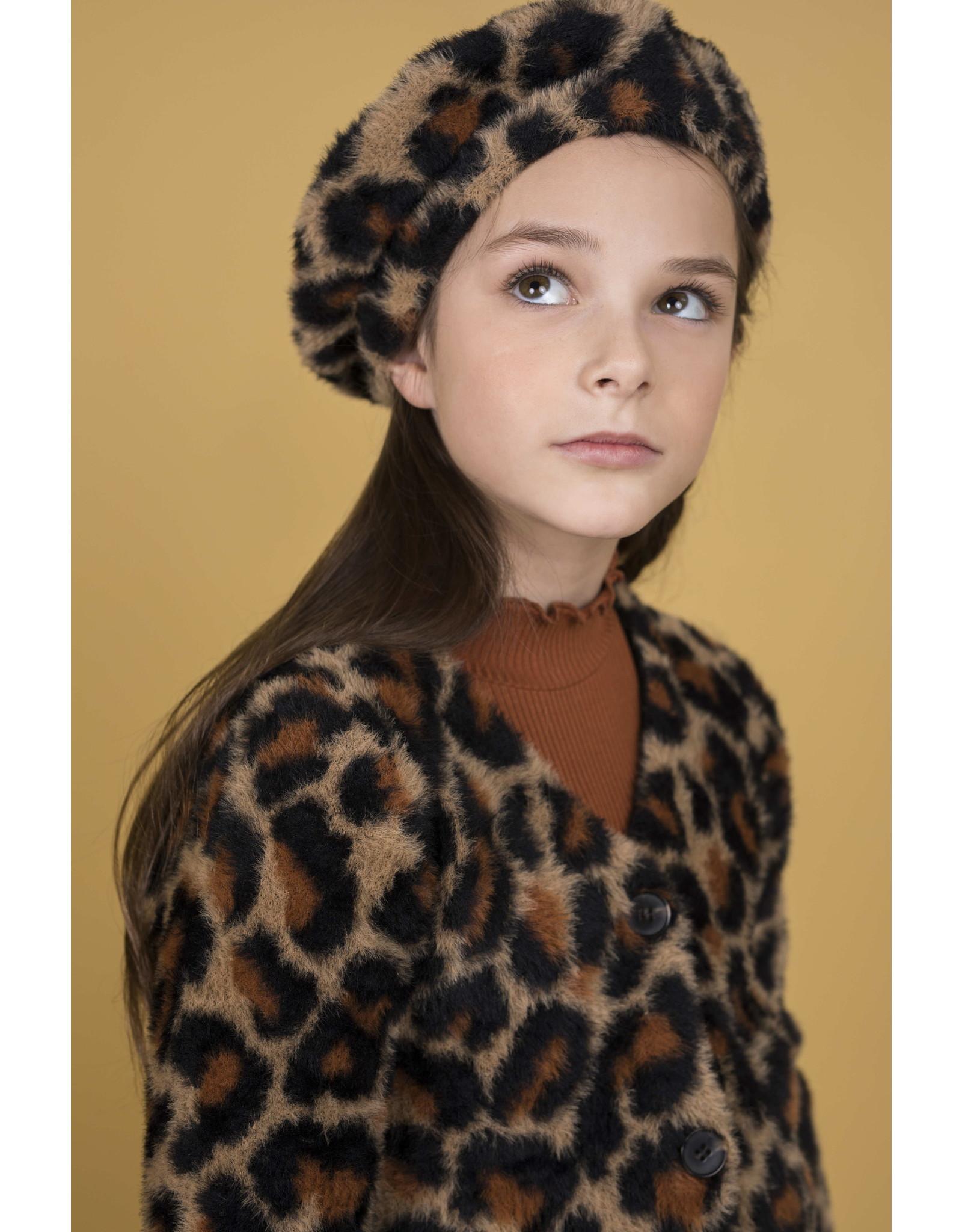 Like Flo Flo girls animal hairy knit cardigan