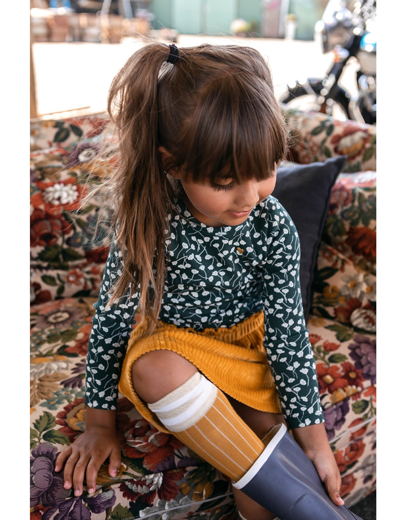 Looxs Little Little velvet skirt honey maat 128