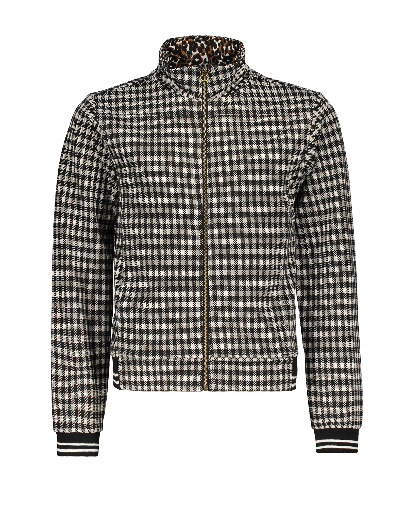 Street Called Madison Luna jacquard check cardigan CHECK-IN