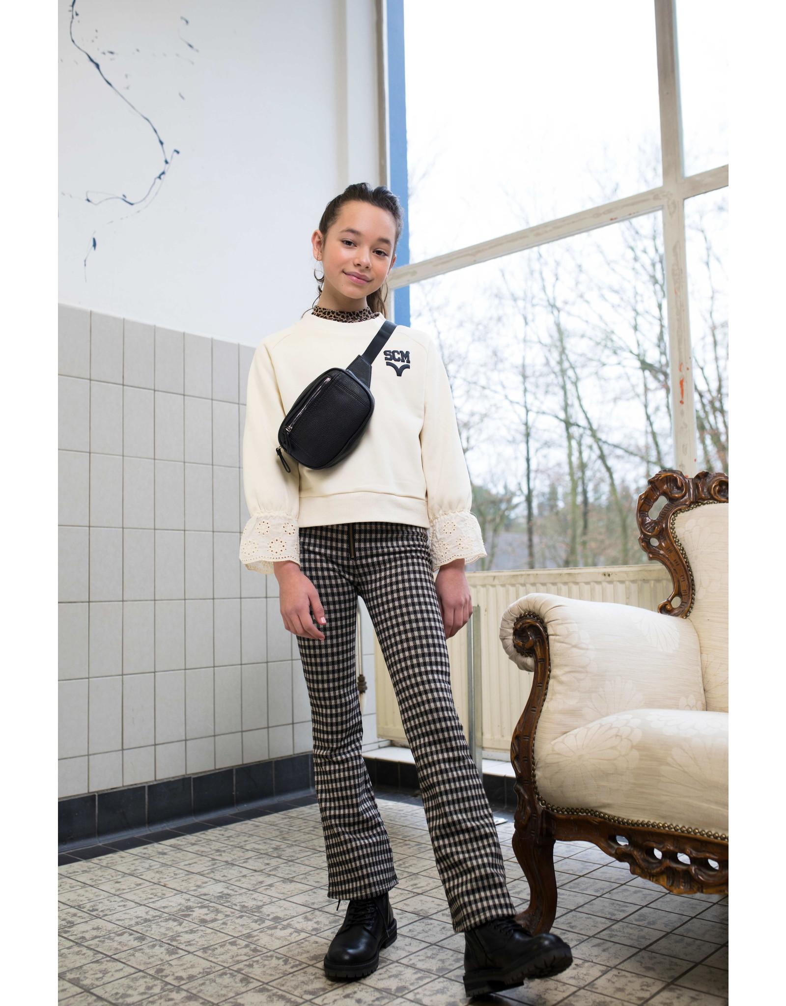 Street Called Madison Luna jacquard check flared pants ROCKY