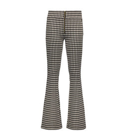 Street Called Madison Luna jacquard check flared pants ROCKY