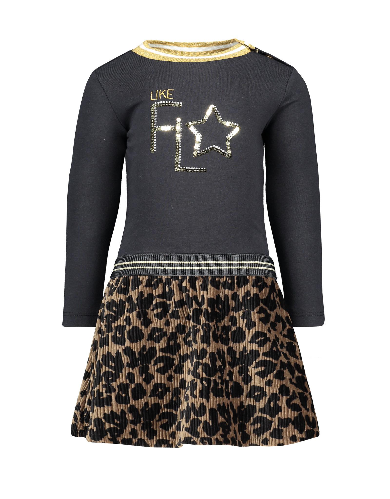 Like Flo Flo baby girls jersey ls dress crincle velvet skirt