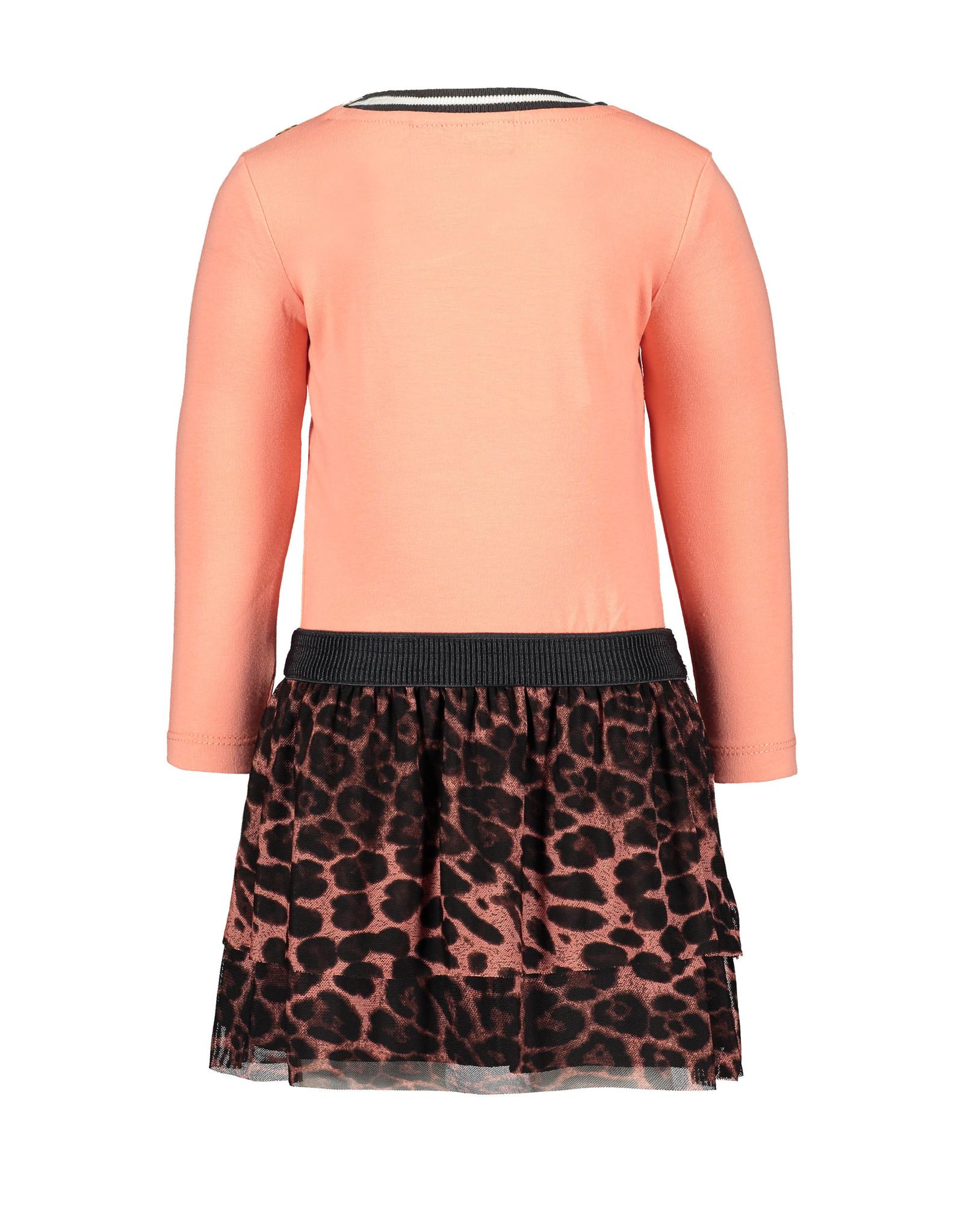 Like Flo Flo baby girls jersey ls dress AO mesh skirt