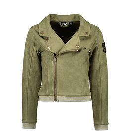 Like Flo Flo girls neopreen suede biker jacket