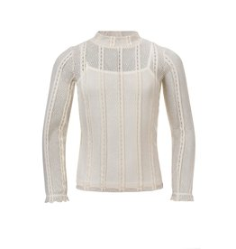 Looxs 10SIXTEEN Girls lace top chalk maat 164