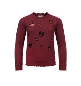 Looxs Little Little sweater wine maat 128