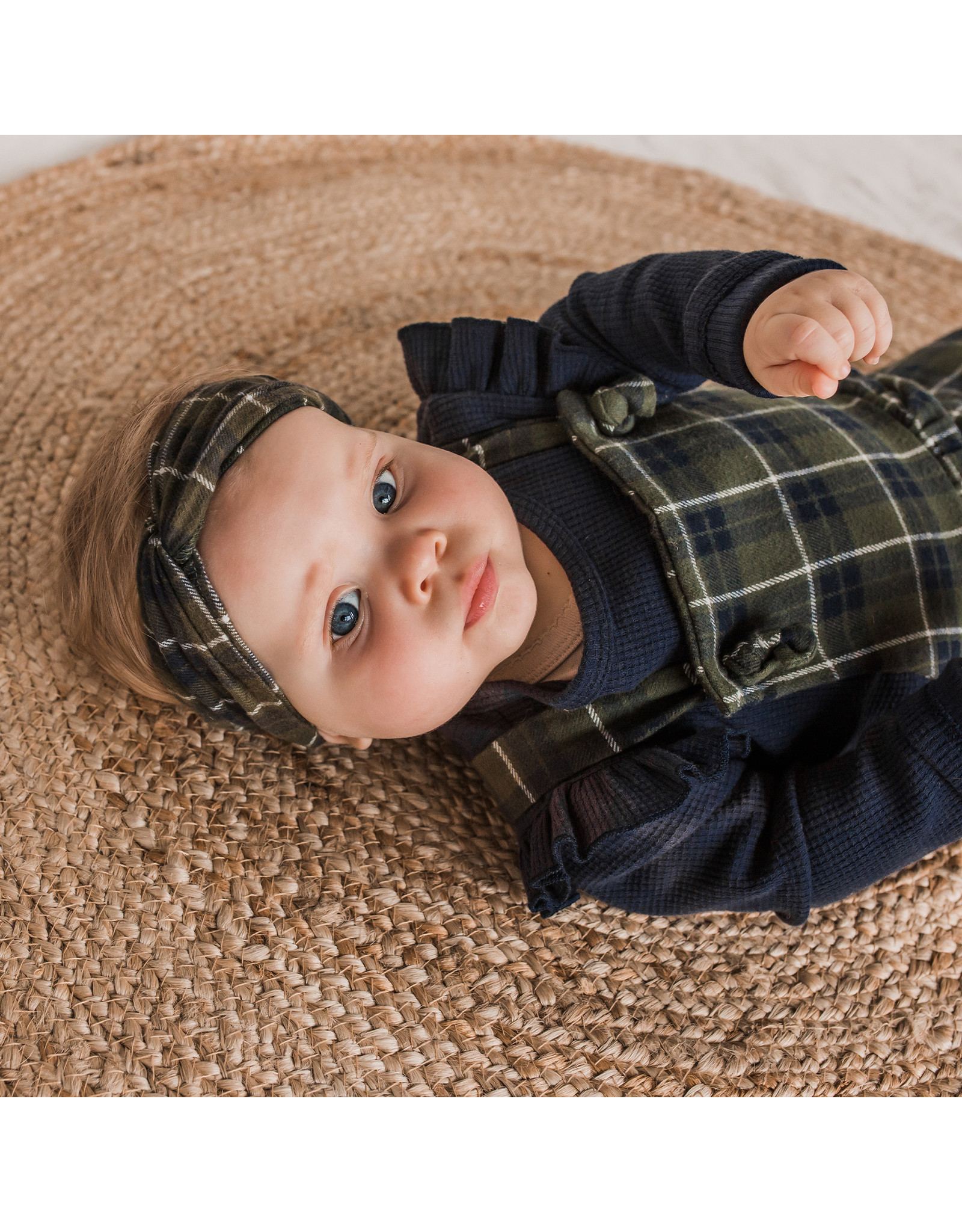 Your Wishes Checks | Dungaree Dress baby