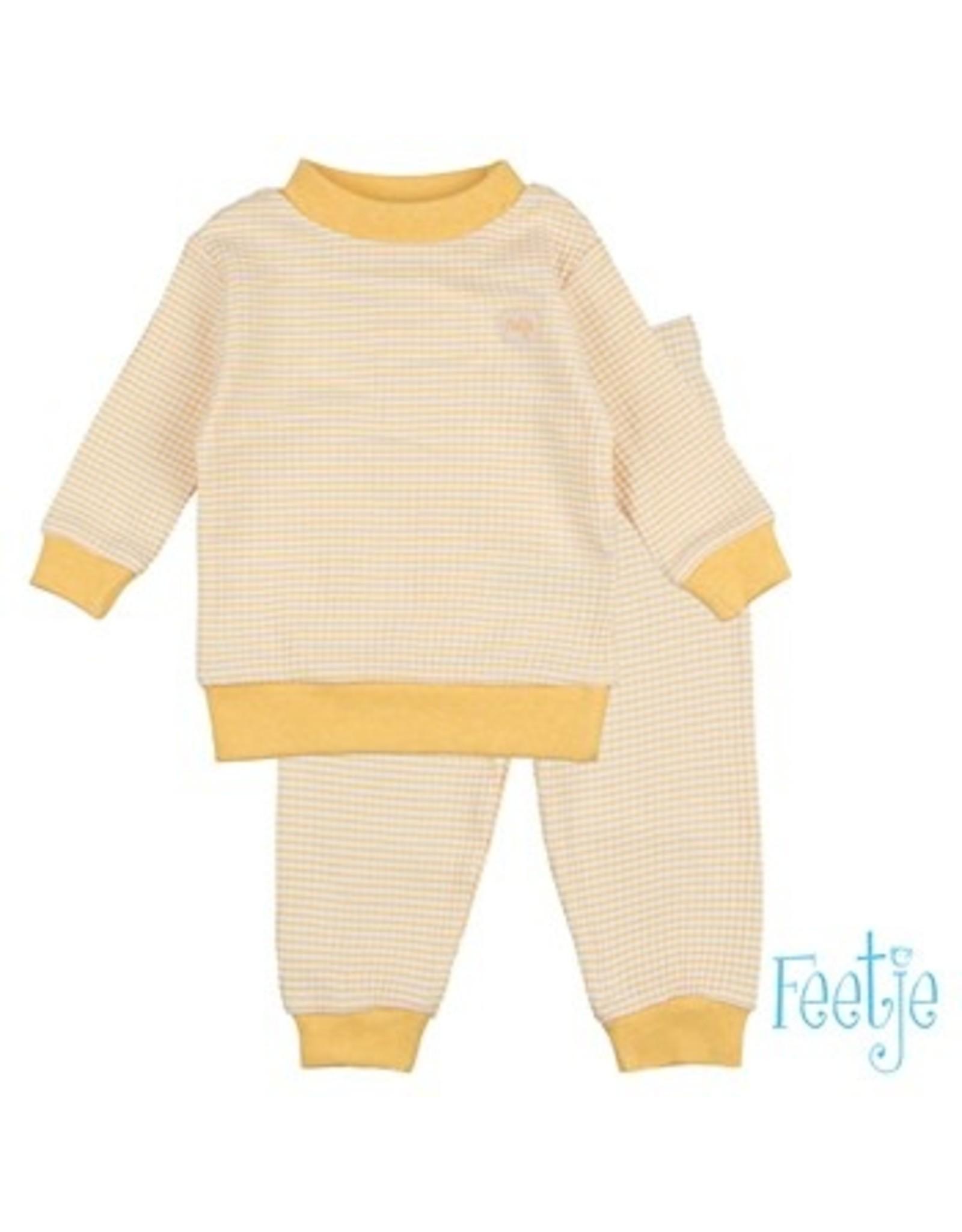Feetje Pyjama oker geel baby