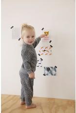 Feetje Pyjama wafel antraciet