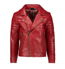 Like Flo Flo girls imi leather biker jacket camel