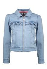 B.Nosy Girls denim jacket with puff shoulder