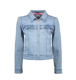 B.Nosy Girls denim jacket with puff shoulder