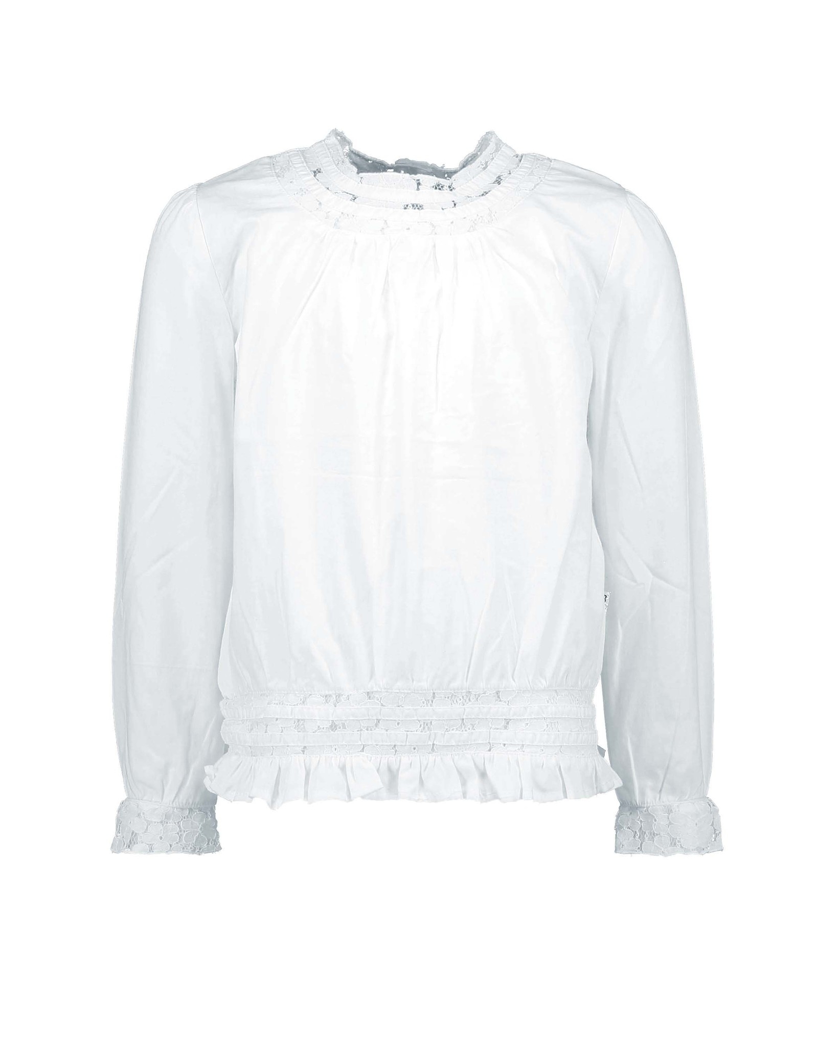 B.Nosy Girls white blouse with lace tape