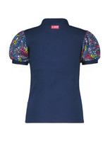 B.Nosy Girls ss shirt with rib body + puff sleeves