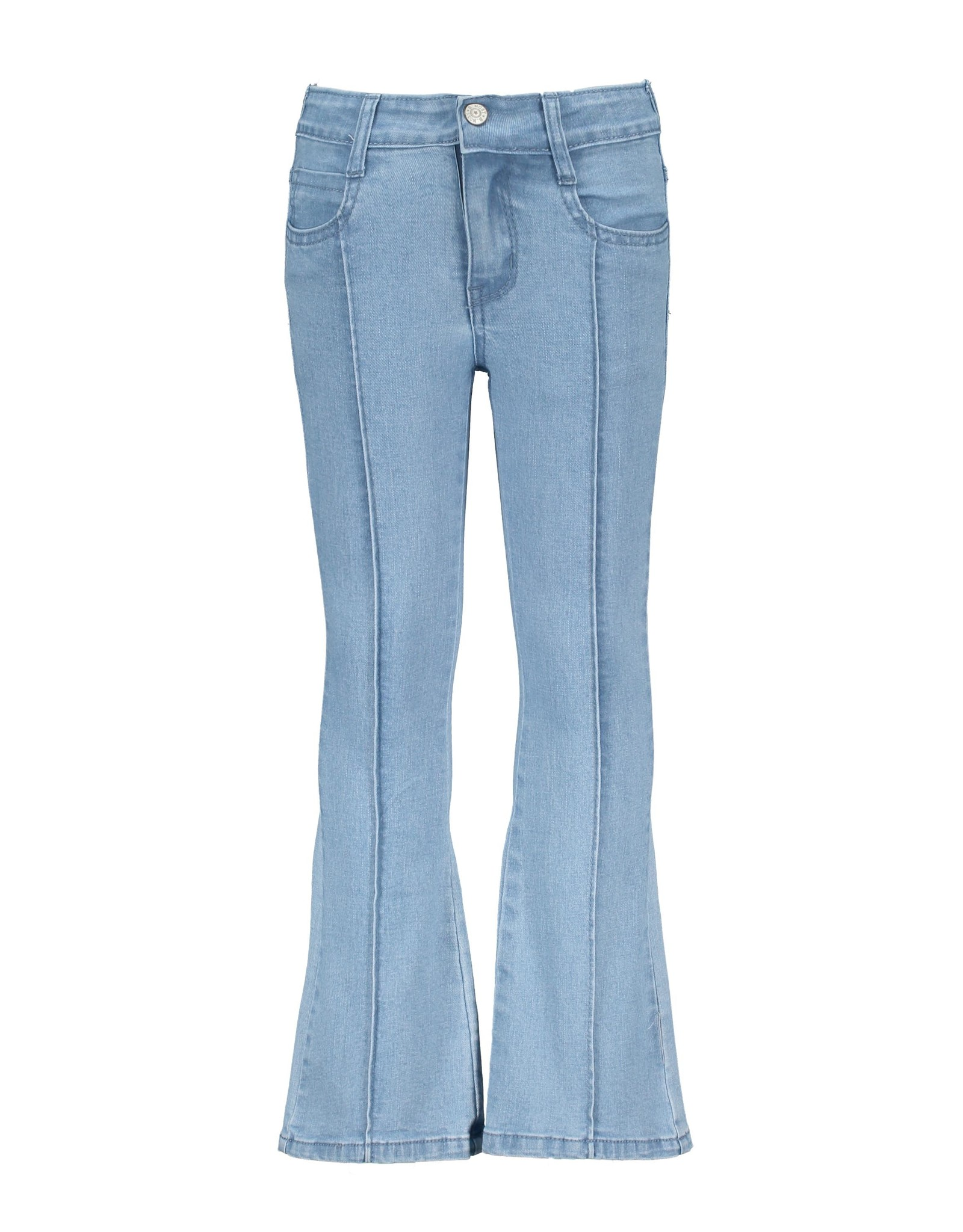 B.Nosy Girls denim flair pants, ruffles at front pockets