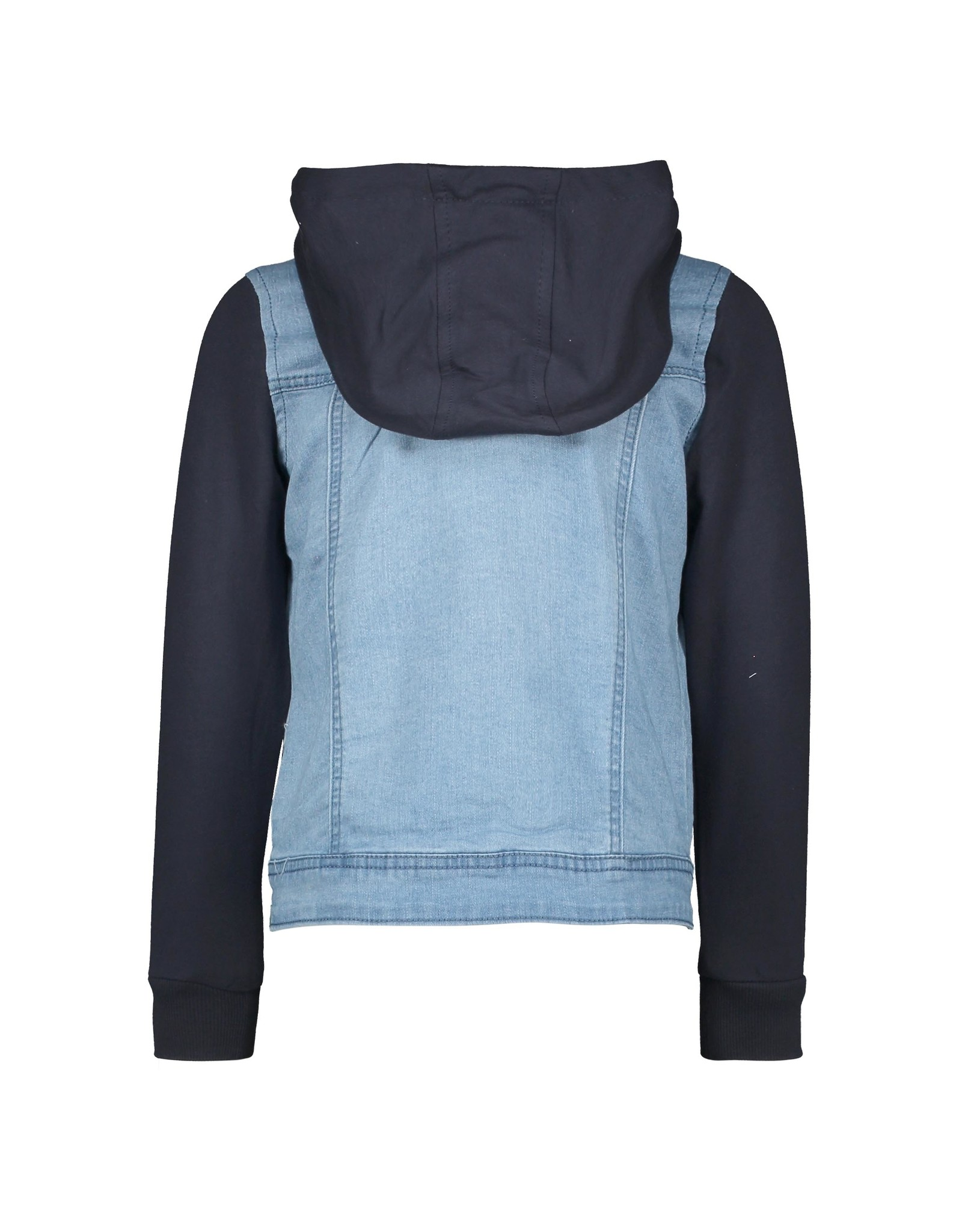 B.Nosy Boys denim jacket with sweat hood and sleeves